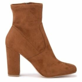 Steve Madden  Tronchetto Pattie in micro suede marrone  women's Low Ankle Boots in Brown