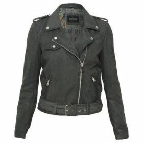 Oakwood  Nubuck biker jacket PLEASE  women's Leather jacket in Green