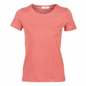 Lacoste  TF3080  women's T shirt in Pink