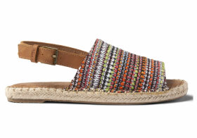TOMS Red Woven Clara Women's Espadrilles Shoes - Size UK5.5