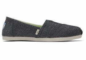 TOMS Black Recycled Women's Classic Alpargatas Shoes - Size UK4