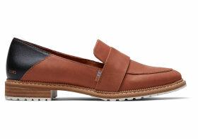 TOMS Hazel Leather Women's Mallory Flats Shoes - Size UK4
