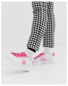 Fred Perry b721 tie dye leather trainers