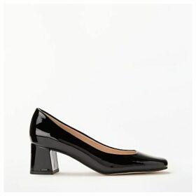 John Lewis & Partners Amanda Patent Leather Court Shoes, Black