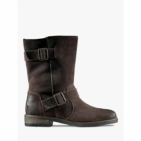 Clarks Demi Flow Leather Mid Calf Boots