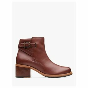Clarks Clarkdale Jax Leather Ankle Boots