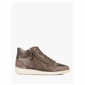 Geox Women's Myria High Top Lace Up Trainers, Chestnut