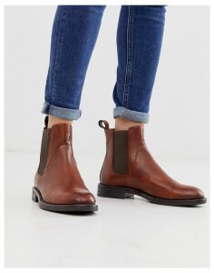 Vagabond Amina brown leather chelsea boots-Tan