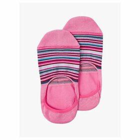 Paul Smith Stripe No Show Socks, Pink/Multi