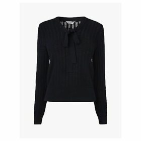 L.K.Bennett Launay Wool Pointelle Jumper