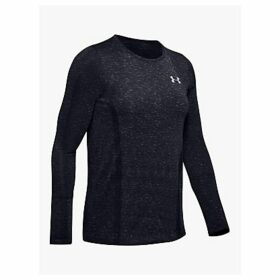 Under Armour Vanish Seamless Spacedye Long Sleeve Training Top, Black/Pitch Gray/Metallic Silver