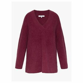 Gerard Darel Shade V Neck Jumper, Burgundy
