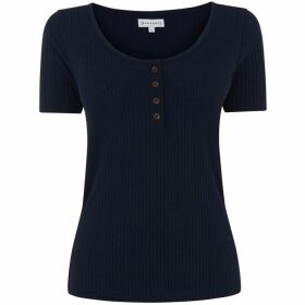Warehouse Pointelle Button Through Top