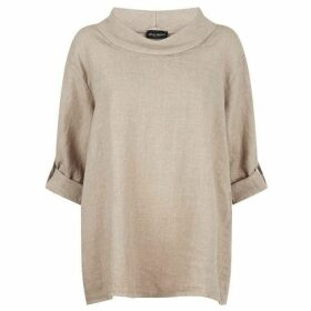 James Lakeland Loose Fit Linen Top