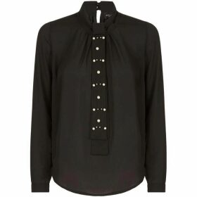 James Lakeland Tie Neck Pearl Blouse