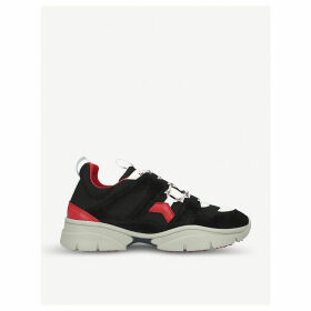 Kindsay low-top leather and neoprene trainers