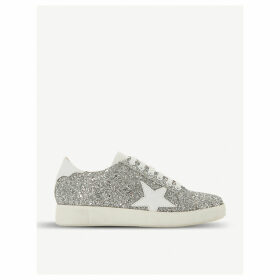 Edris glitter and leather trainers