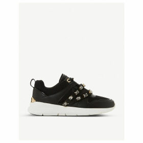 Extraa faux-leather trainers