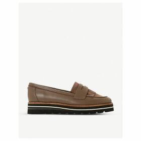 Gracella flatform leather loafers