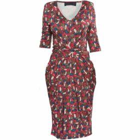 Helen McAlinden Print Vintage Dress