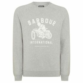 Barbour International Bike Print Crew Neck Sweat