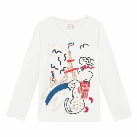 Catimini Ivory T-Shirt With Pretty In Paris Image
