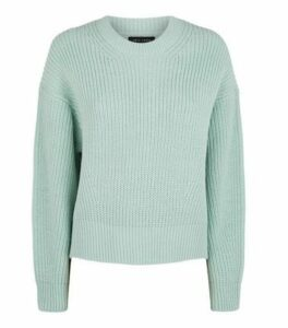 Mint Green Crew Neck Jumper New Look