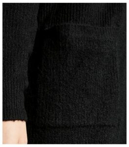 Black Ribbed Long Sleeve Longline Cardigan New Look