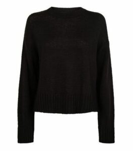Tall Black Crew Neck Jumper New Look