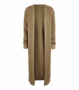 Carpe Diem Camel Cuffed Midi Cardigan New Look