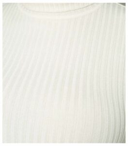 Curves Off White Ribbed Roll Neck Jumper New Look