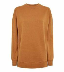 Rust Crew Neck Brushed Sweatshirt New Look