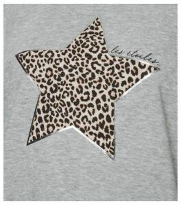 Grey Leopard Print Star Slogan Sweatshirt New Look