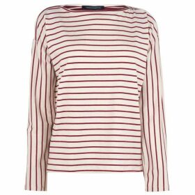 French Connection Connection Rosana Long Sleeve Sweater - Cream/Rhubarb