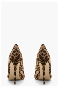 Womens Platform Pointed Leopard Court Shoes - multi - 8, Multi