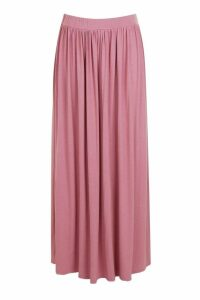 Womens Plus Floor Sweeping Jersey Maxi Skirt - pink - 22, Pink