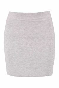 Womens Basic Jersey Mini Skirt - grey - 14, Grey