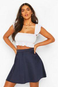 Womens Basic Fit And Flare Skater Skirt - Navy - 14, Navy