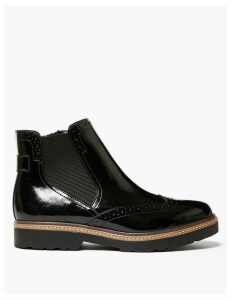 M&S Collection Leather Brogue Chelsea Boots