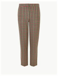 M&S Collection Evie Checked 7/8th Trousers