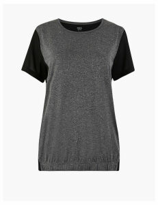 M&S Collection Moisture Wicking Bubble Hem Tops