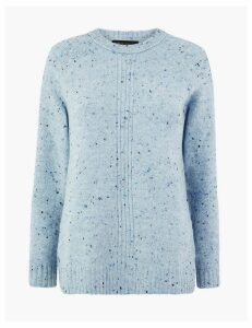 M&S Collection Textured Relaxed Fit Jumper