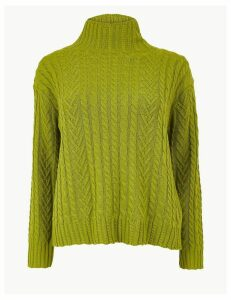M&S Collection Cotton Rich Cable Jumper