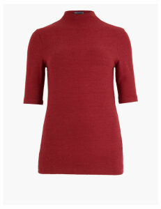 M&S Collection Textured Cosy Short Sleeve Top