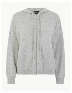 Autograph Pure Cashmere Zipped Crop Hoodie
