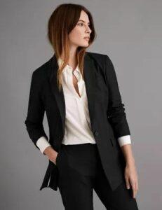 Autograph Wool Silk Blend Tailored Blazer