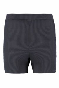 Womens Basic Ribbed Cycling Shorts - Grey - 16, Grey