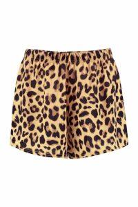 Womens Payton Leopard Print Woven Shorts - Multi - 16, Multi