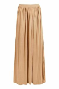 Womens Floor Sweeping Jersey Maxi Skirt - beige - 8, Beige