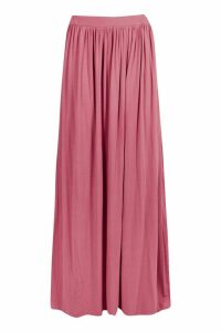 Womens Floor Sweeping Jersey Maxi Skirt - pink - 14, Pink